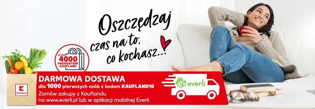 Kaufland darmowa dostawa na zakupy poprzez apkę lub stronę www