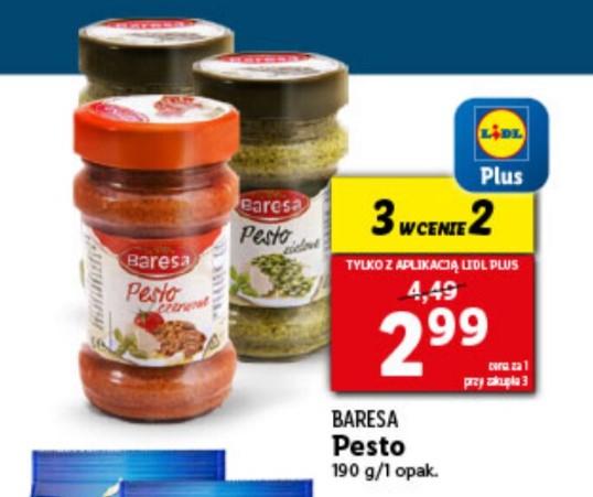 z aplikacja LIDL PLUS Pesto 3szt w cenie 2