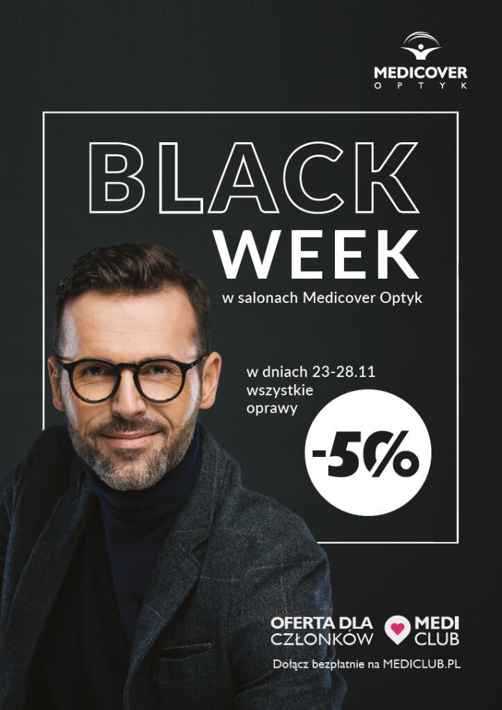 Black Week w Salonach optycznych Medicover -50% na wszystkie oprawy