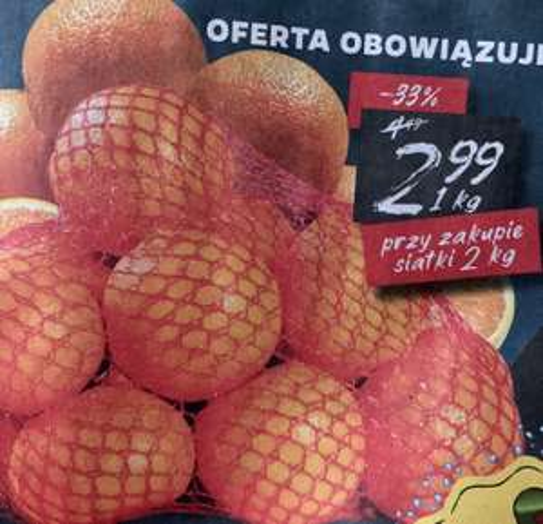 Pomarańcze 2,99zł/kg przy zakupie 2kg @Netto