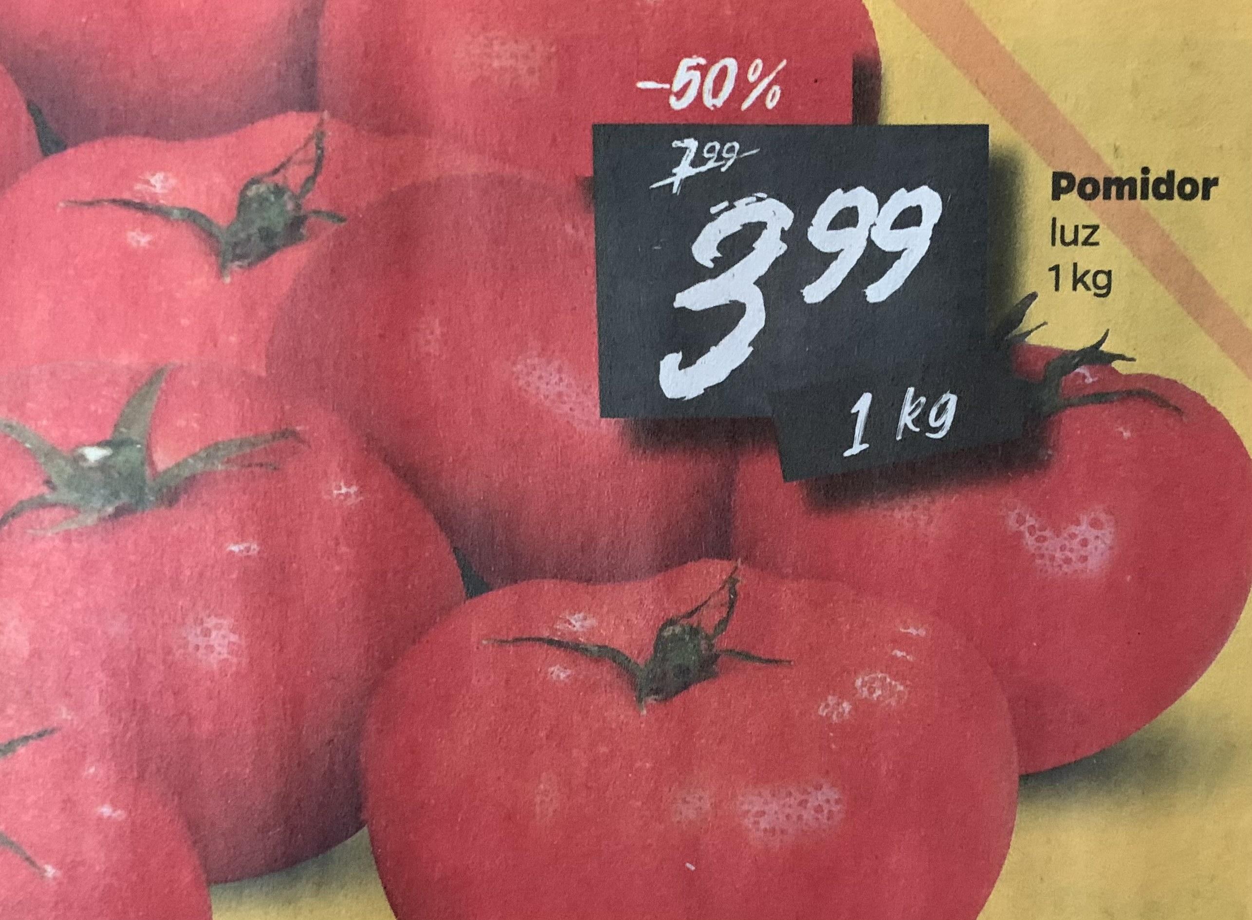 Pomidory 3,99zł/kg @Netto