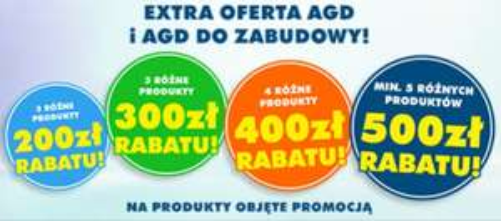 ELECTRO.PL rabaty na AGD i AGD do zabudowy do -500 zł za 5 różnych produktów