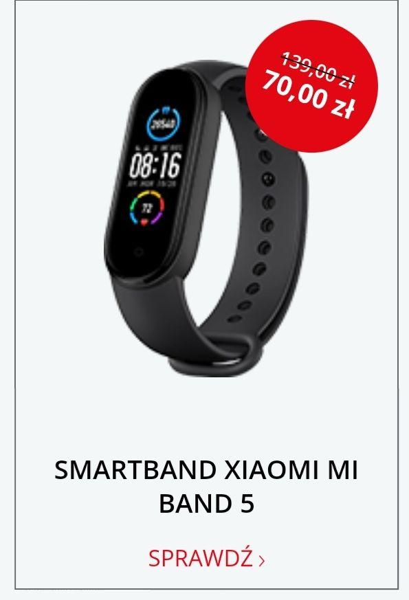 Smartband Xiaomi Mi Band 5 Czarny @ Morele.net