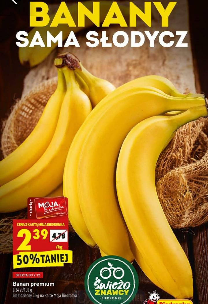 Banany 1kg. Biedronka