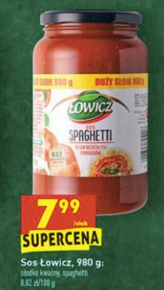 Sos Łowicz słodko-kwaśny, spaghetti 980g. Biedronka