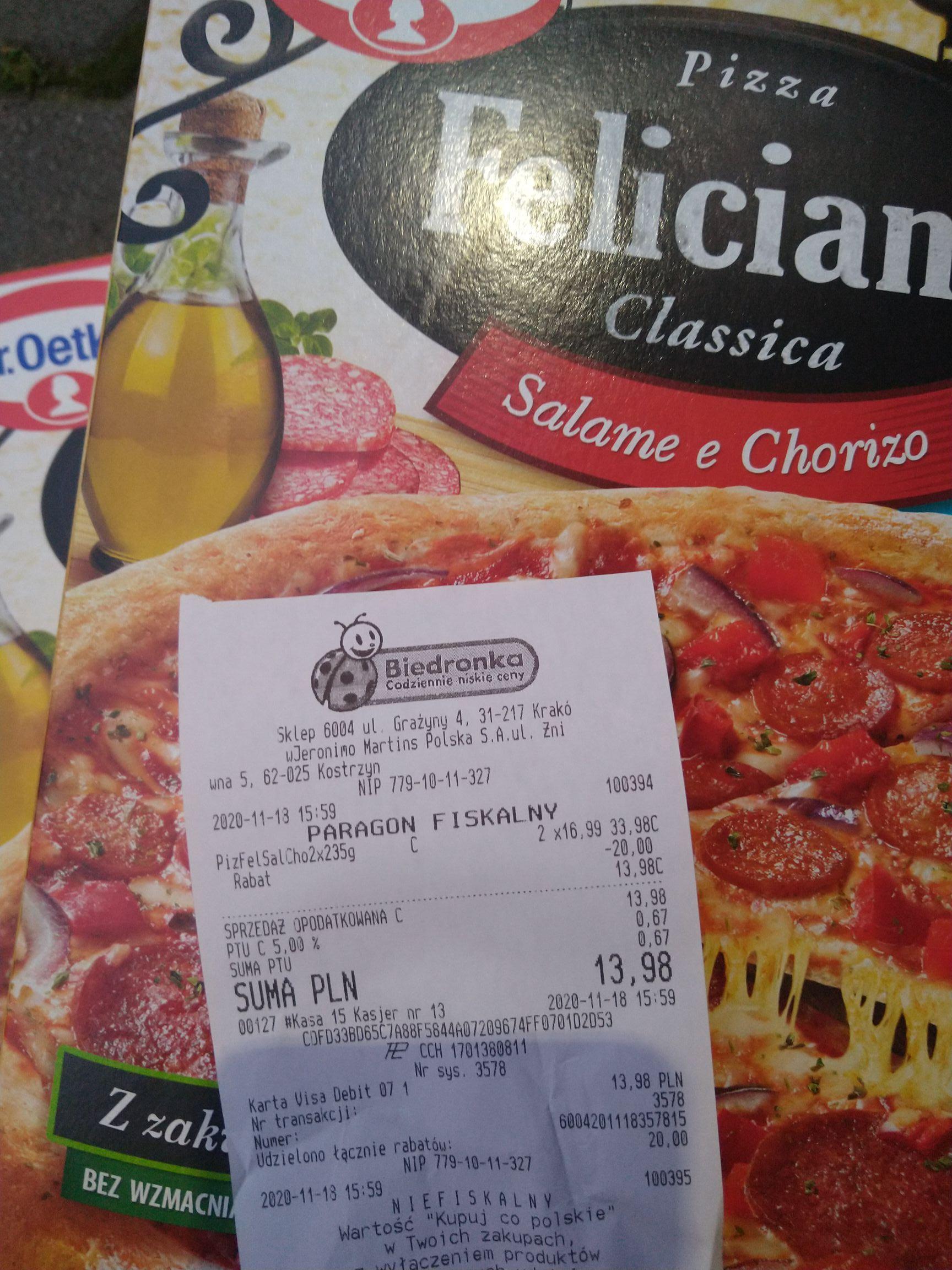 Pizza Feliciana w Biedronce (2 szt)