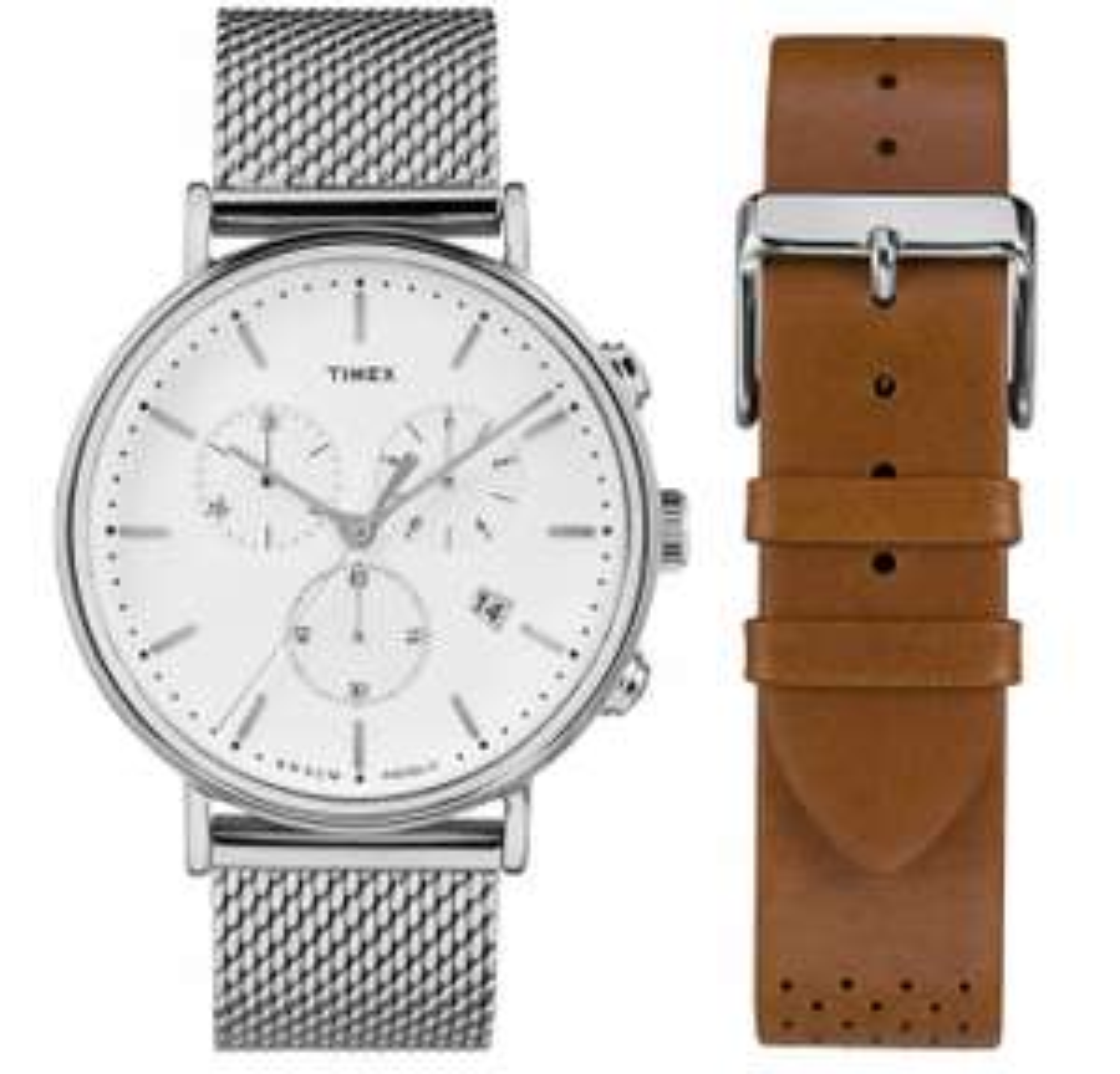 Zegarek męski Timex Chrono bransoleta + pasek [Allegro]