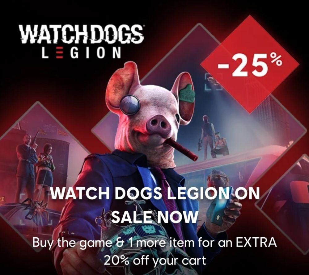 Watch Dogs Legion (PC) za ok. 150 zł w Ubi Store