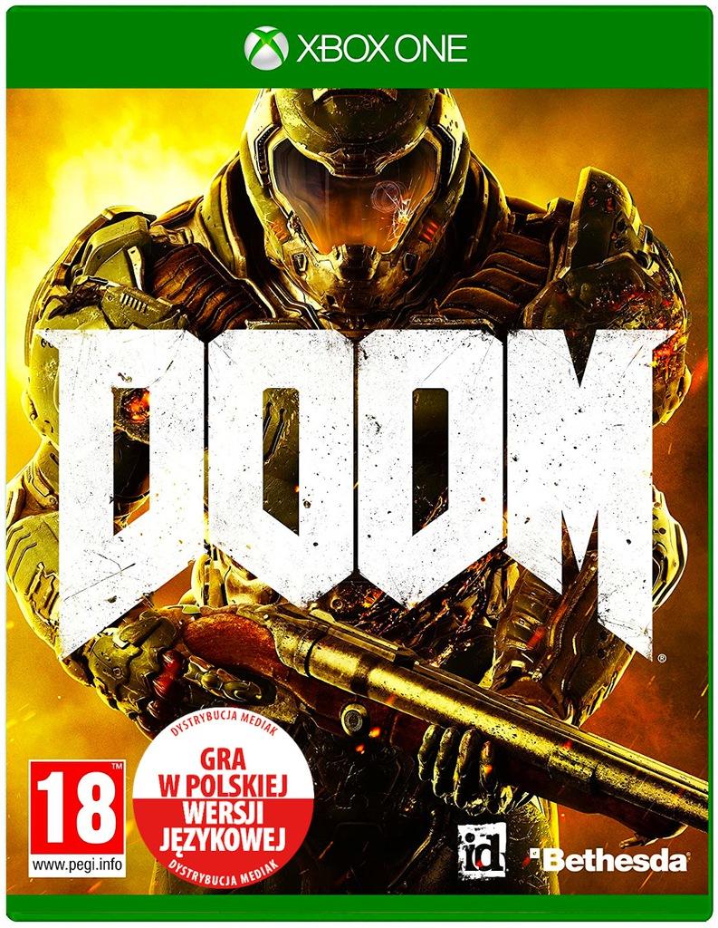 DOOM Xbox One PL Dubbing Strzelanina Akcji FPS
