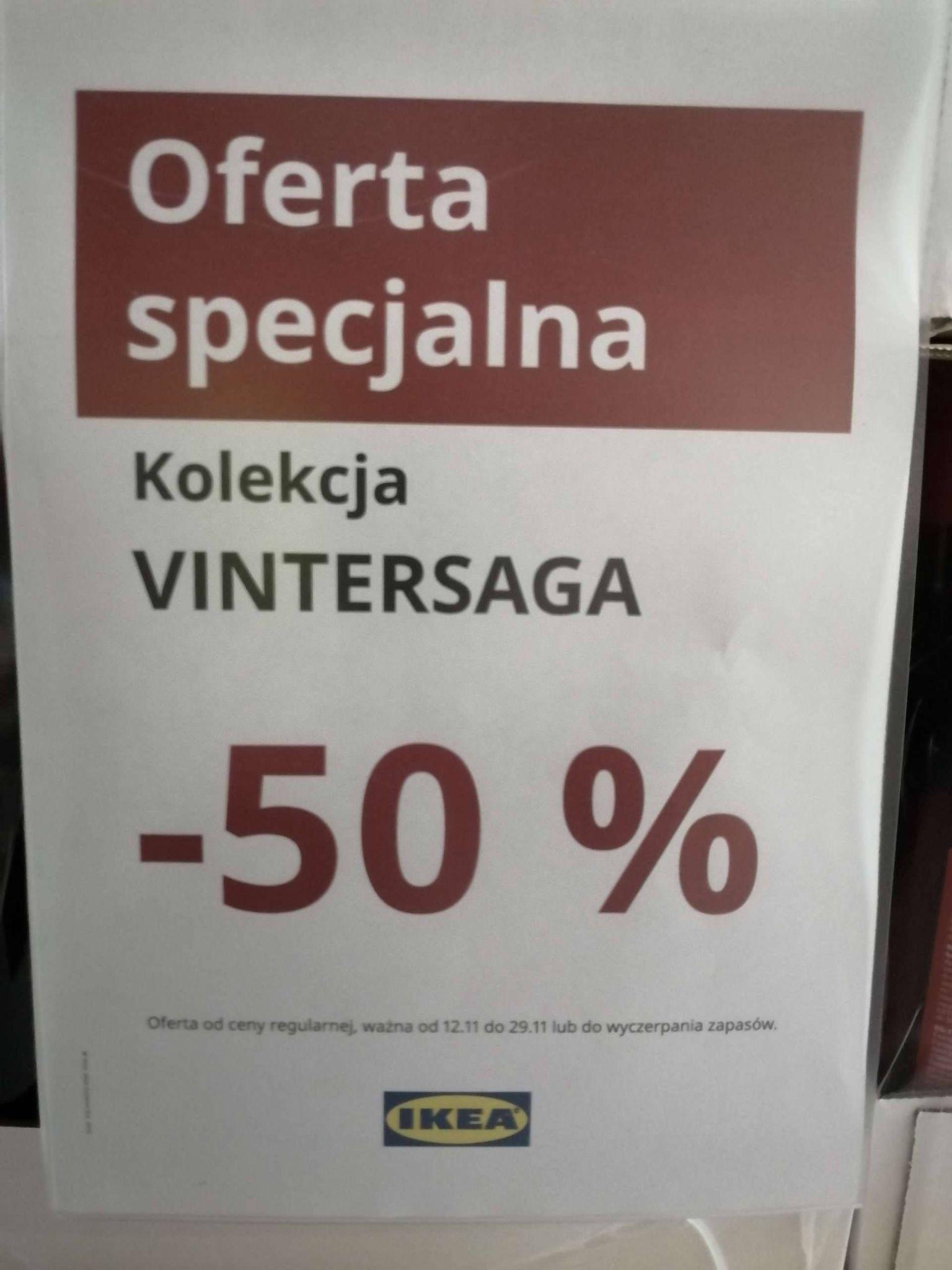 IKEA Kolekcja VINTERSAGA - 50% na sklepiku szwedzkim KATO