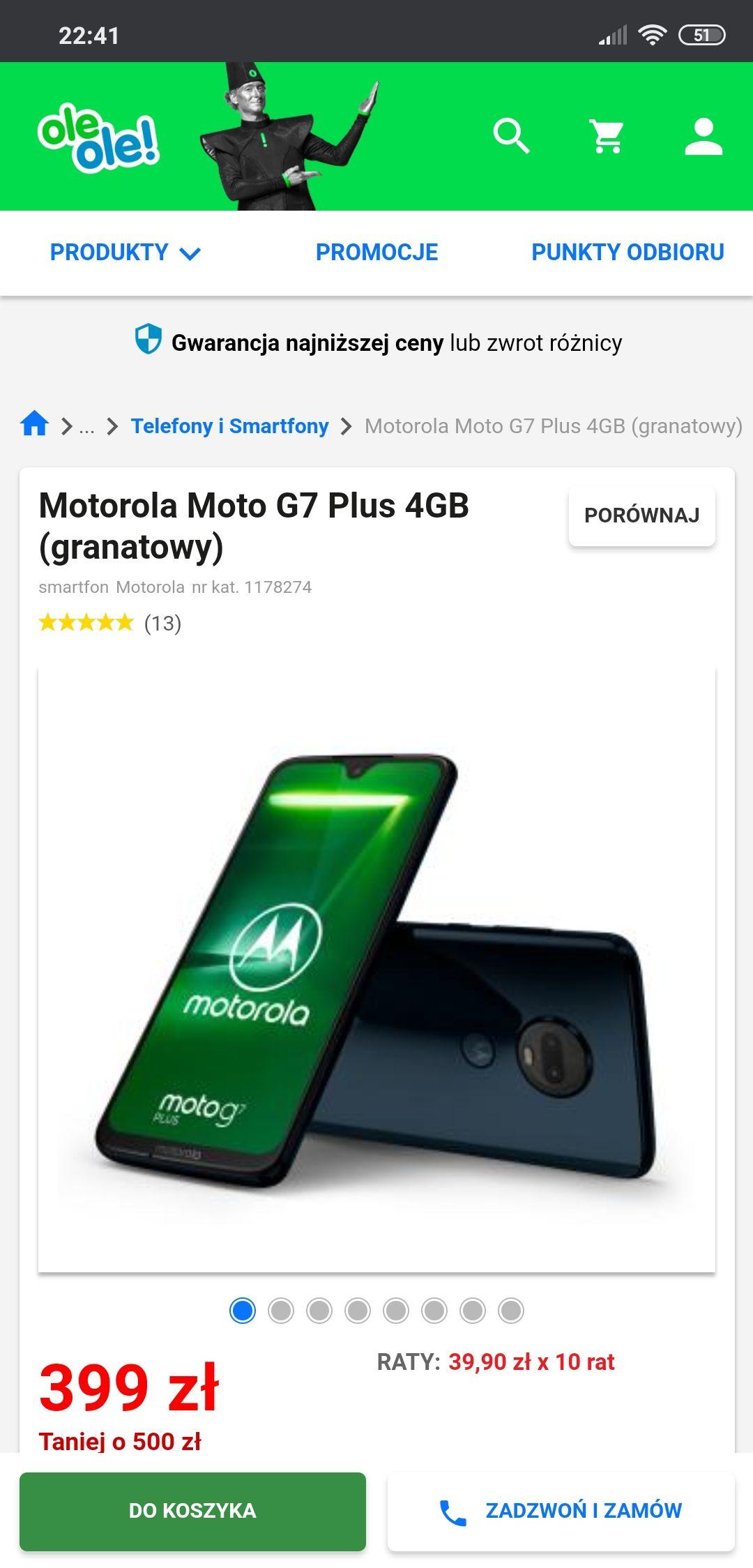 Motorola Moto g7 plus oleole