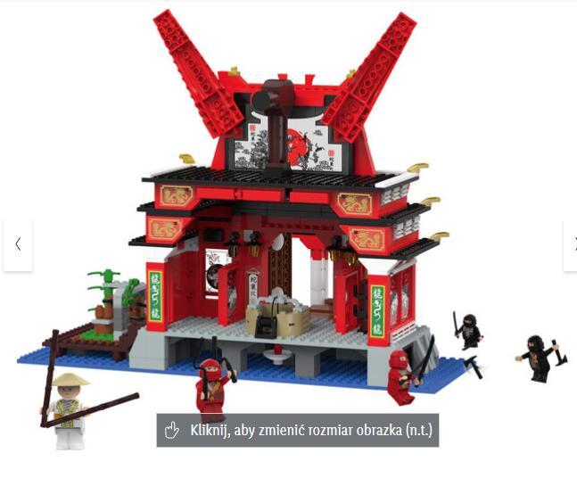 Zestaw klocków L świątynia Ninja