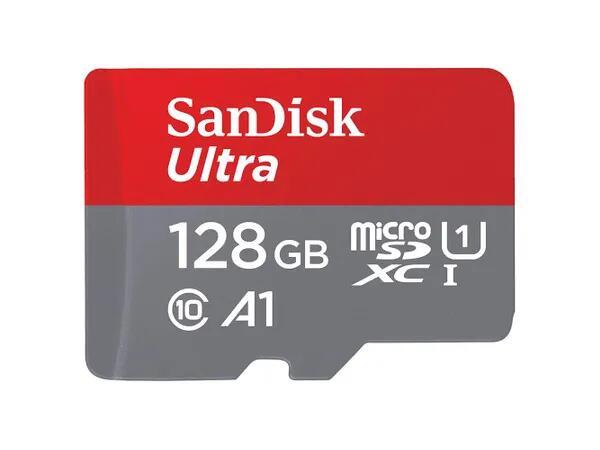 Karta pamięci SANDISK 128GB microSDXC Ultra 100MB/s A1 C10 UHS-I U1 SDSQUAR-128G-GN6MN