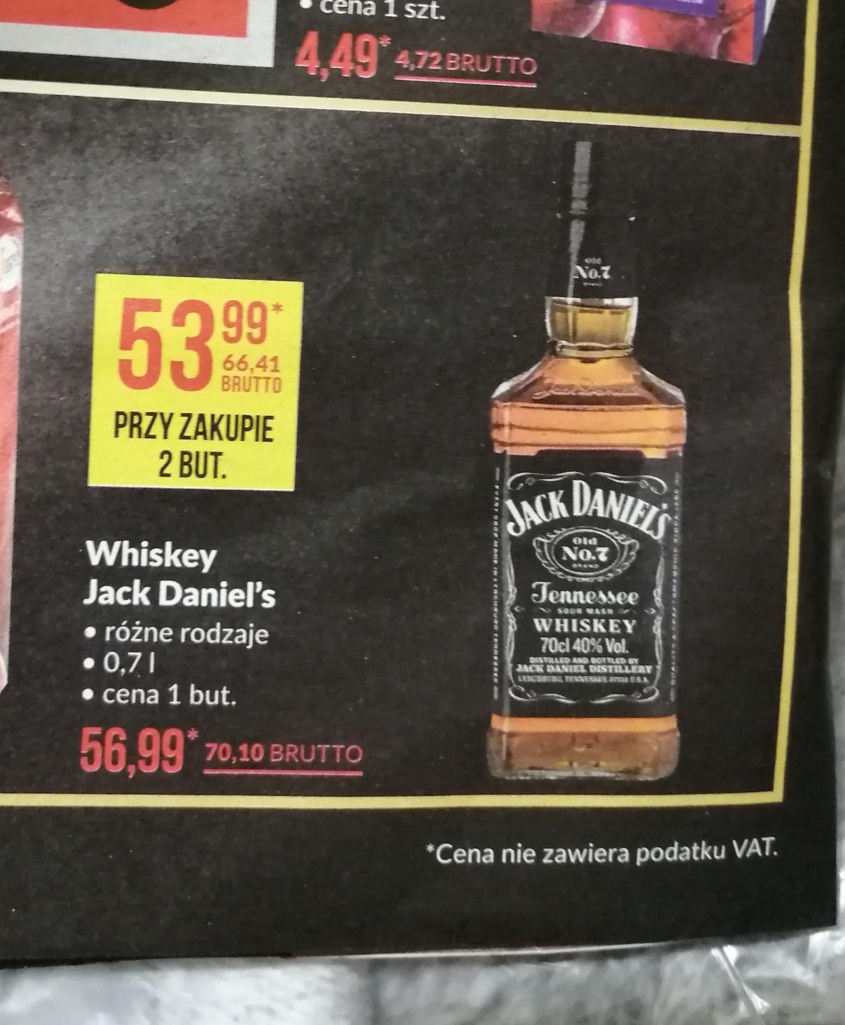 Jack daniel's przy zakupie 2 butelek 0.7l - makro