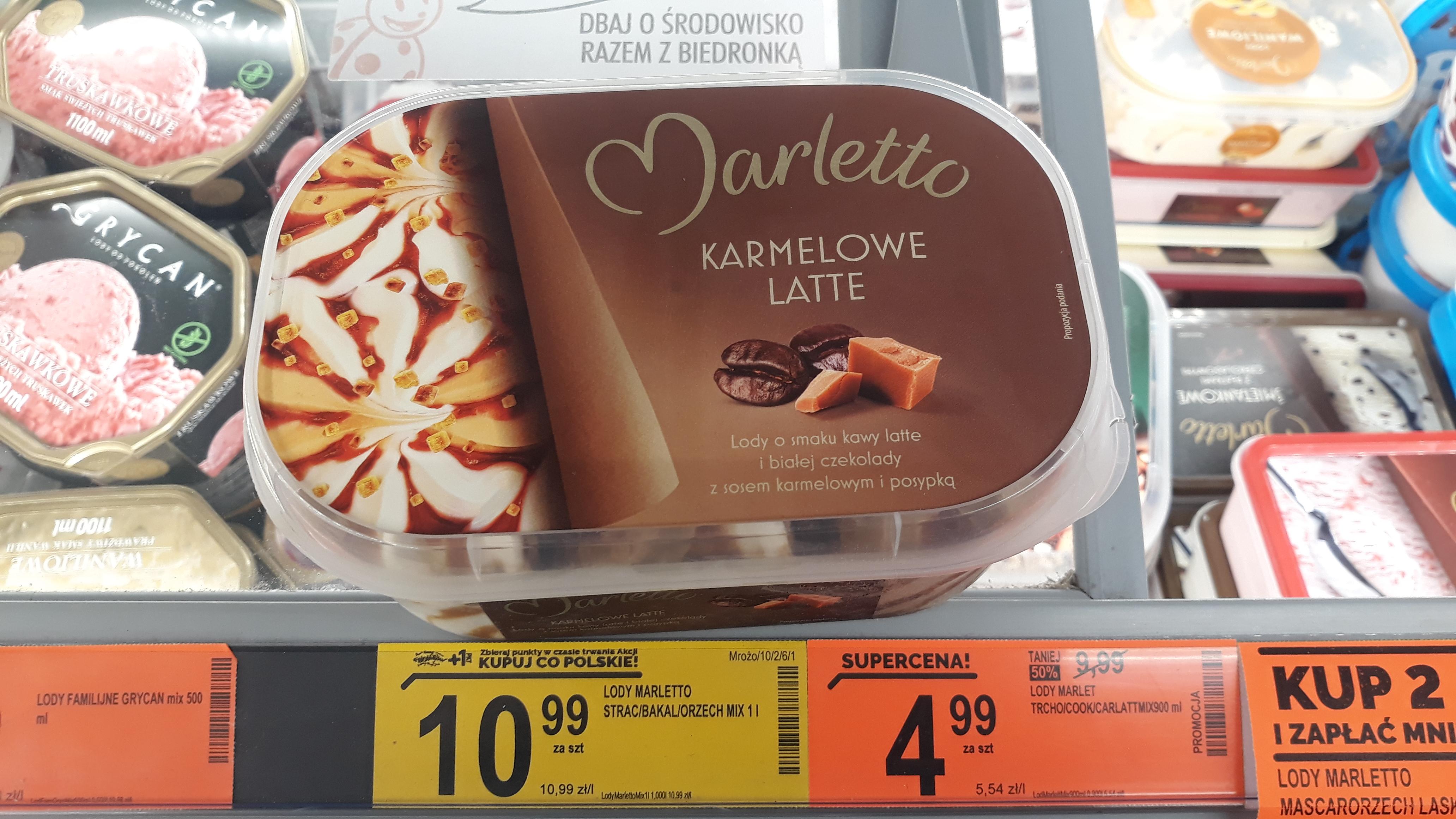 Lody Marletto karmelowe latte 900 ml