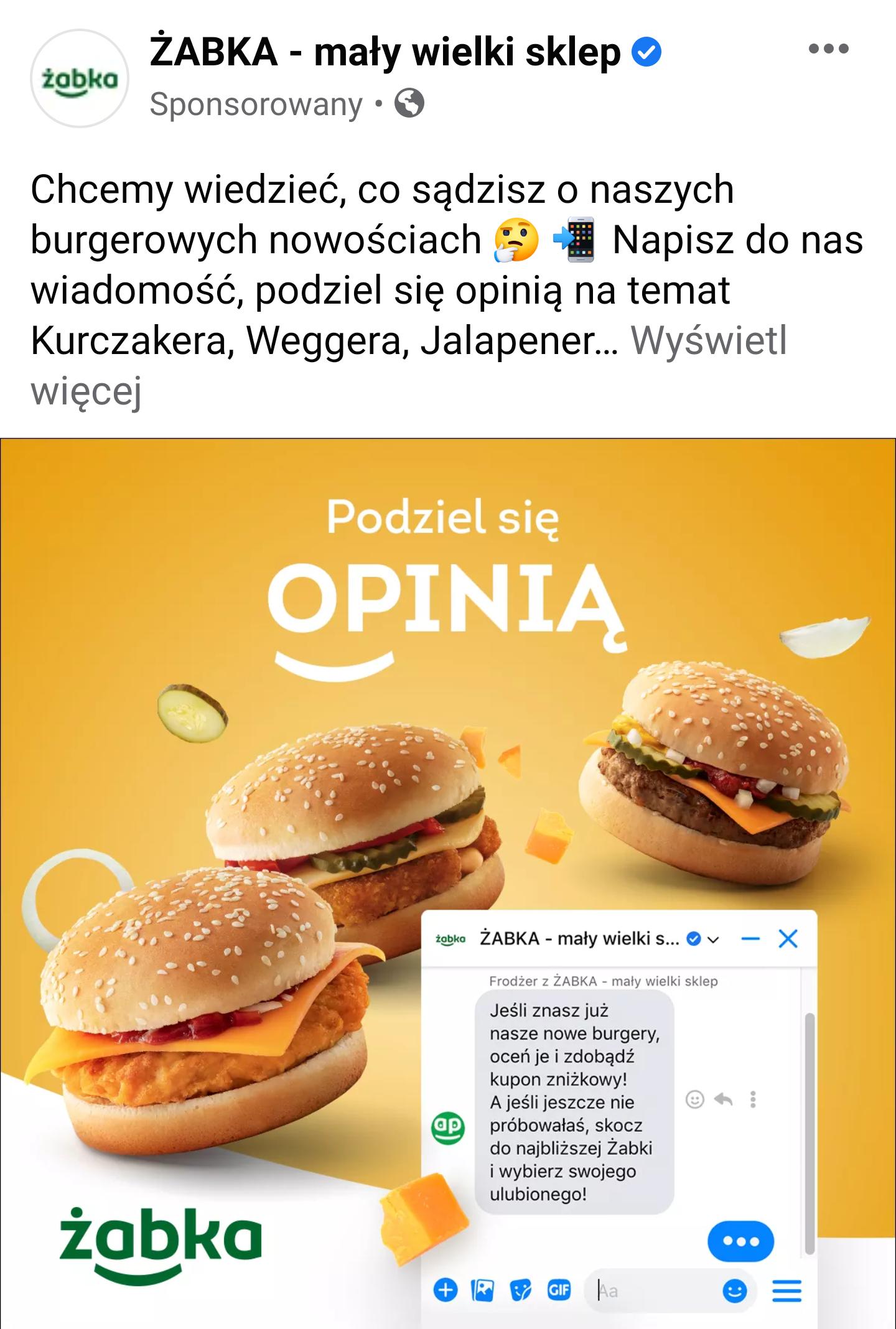 Darmowy hotdog, kawa lub hamburger w żabce