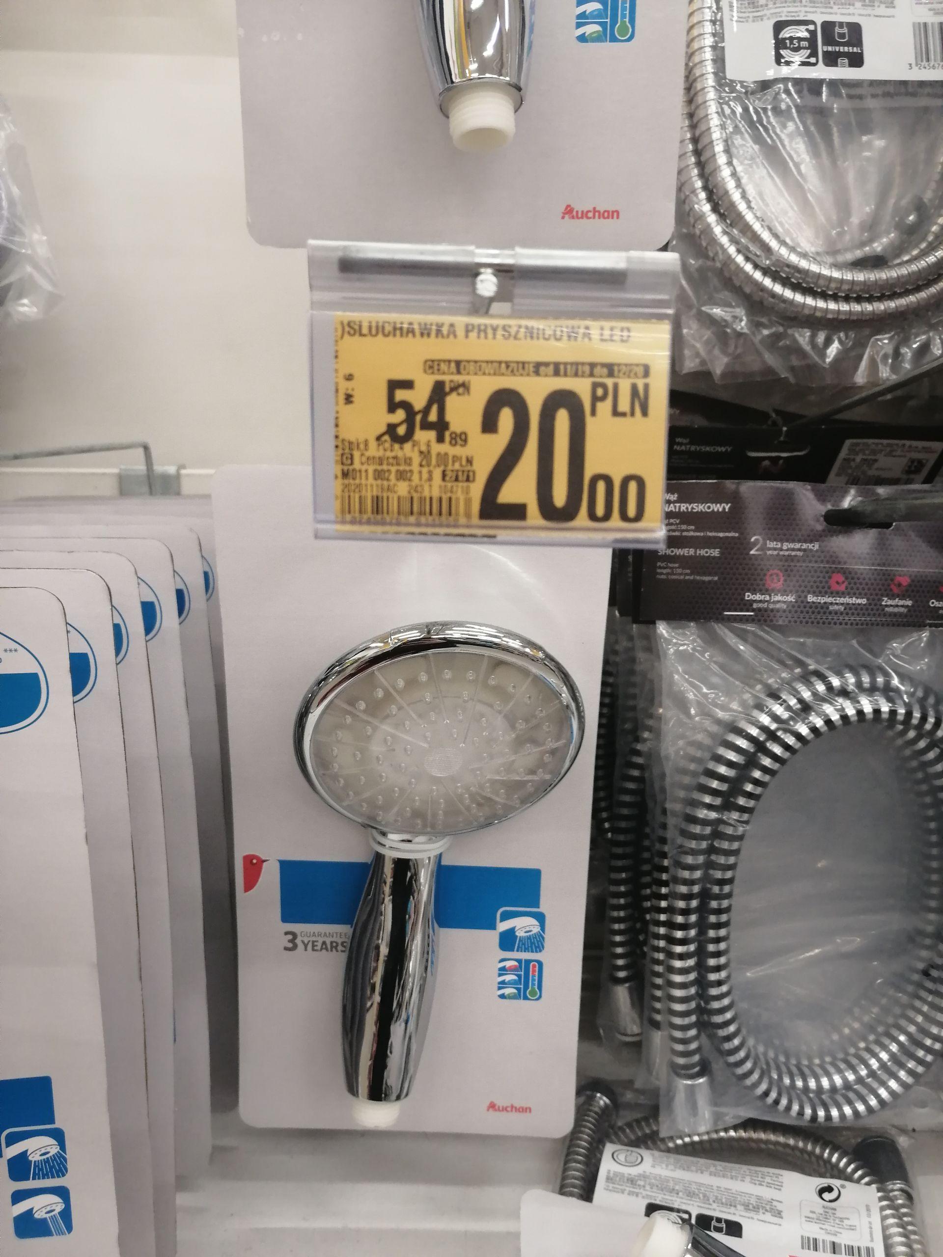 Słuchawka prysznicowa z podświetleniem LED