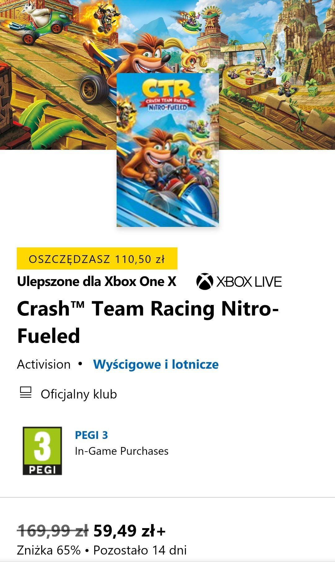 Crash™ Team Racing Nitro-Fueled Xbox