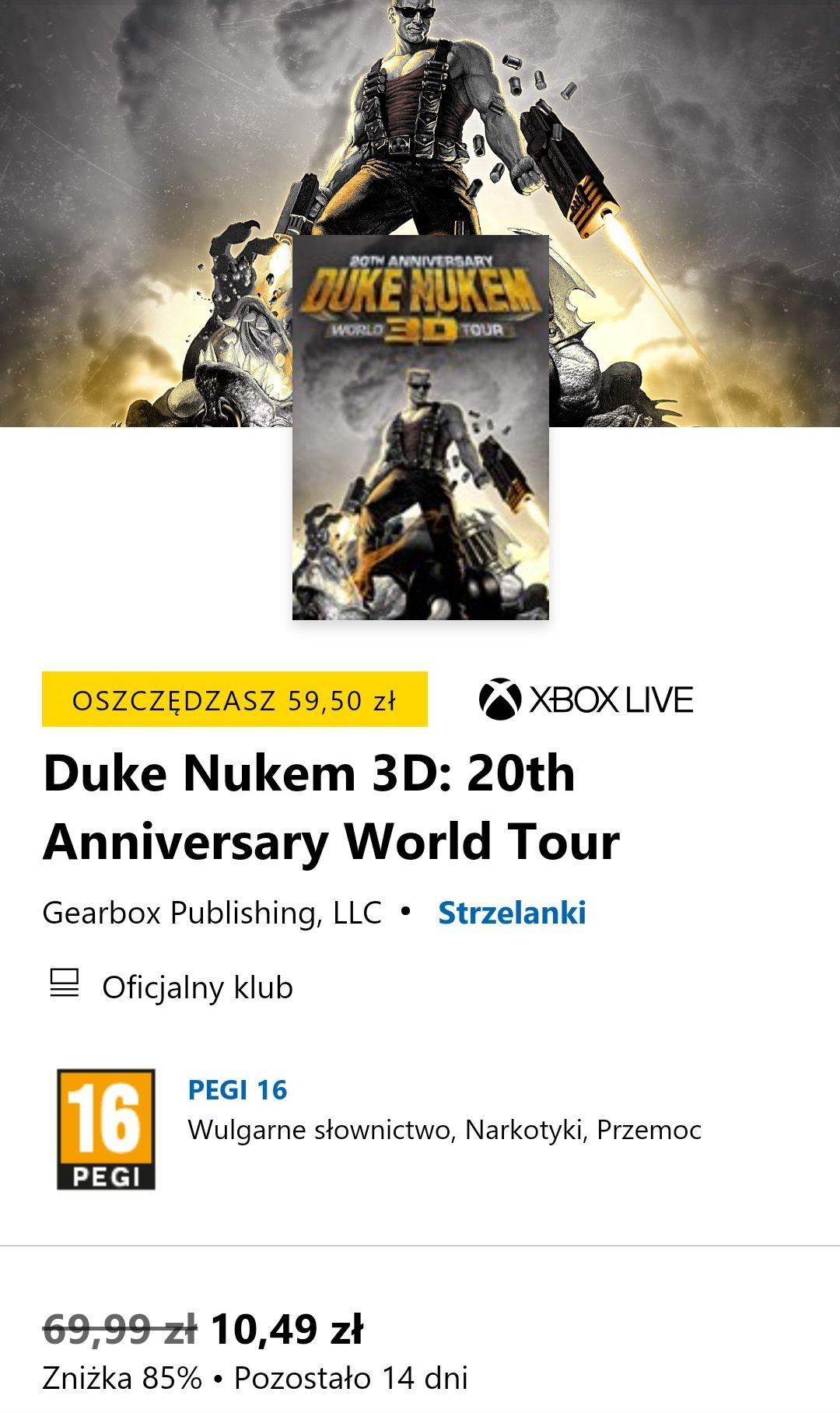 Duke Nukem 3D: 20th Anniversary World Tour xbox