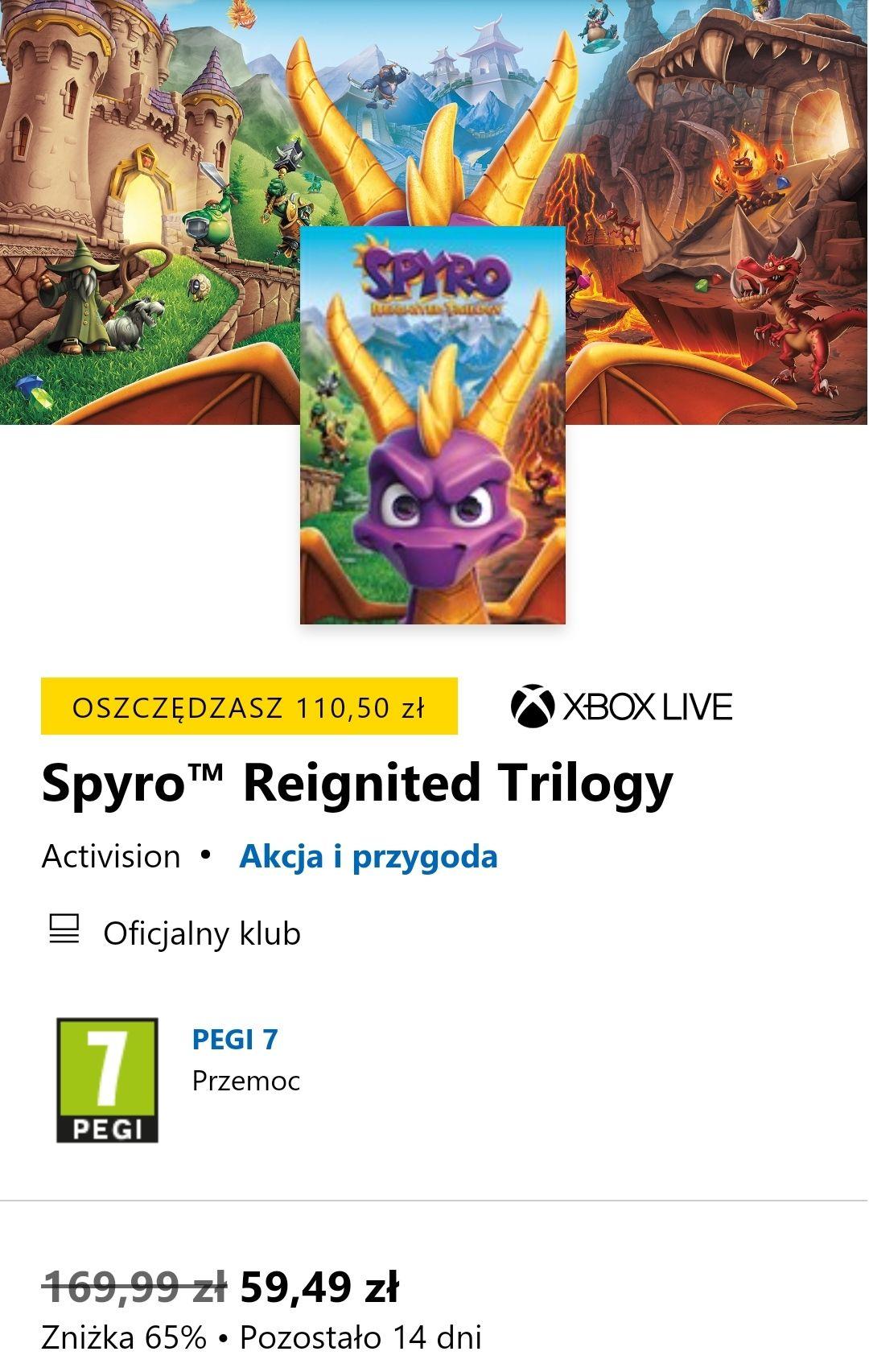 Spyro™ Reignited Trilogy Xbox