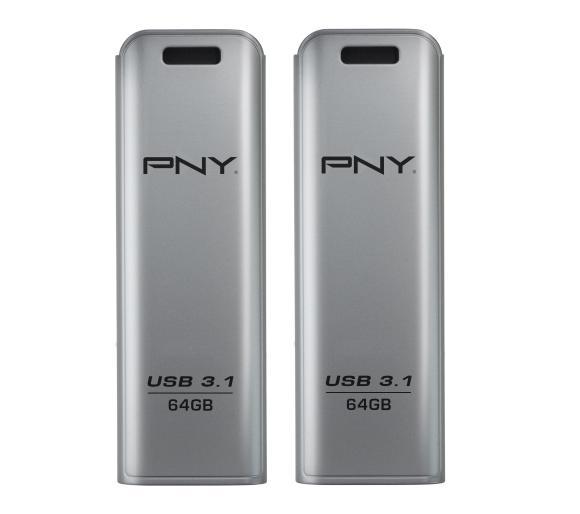 2szt Pendrive PNY Elite Steel 64GB USB 3.1, o.os.0zł