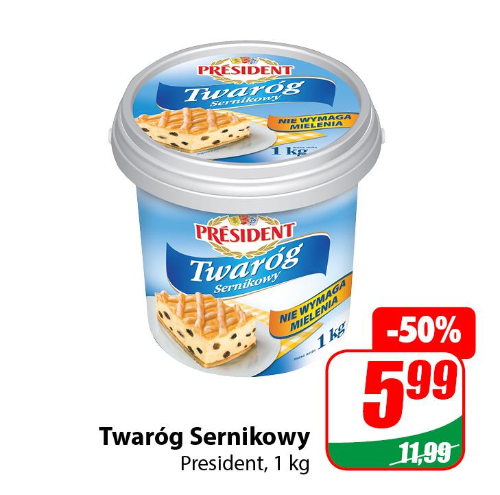 Twaróg Sernikowy President 1kg - DINO