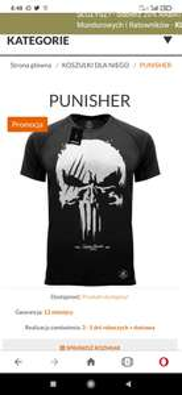 Koszulka Termoaktywna Punisher Czarna/Khaki/Piaskowa