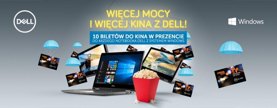 10 biletów do kina w prezencie przy zakupie laptopa Dell @ Dell