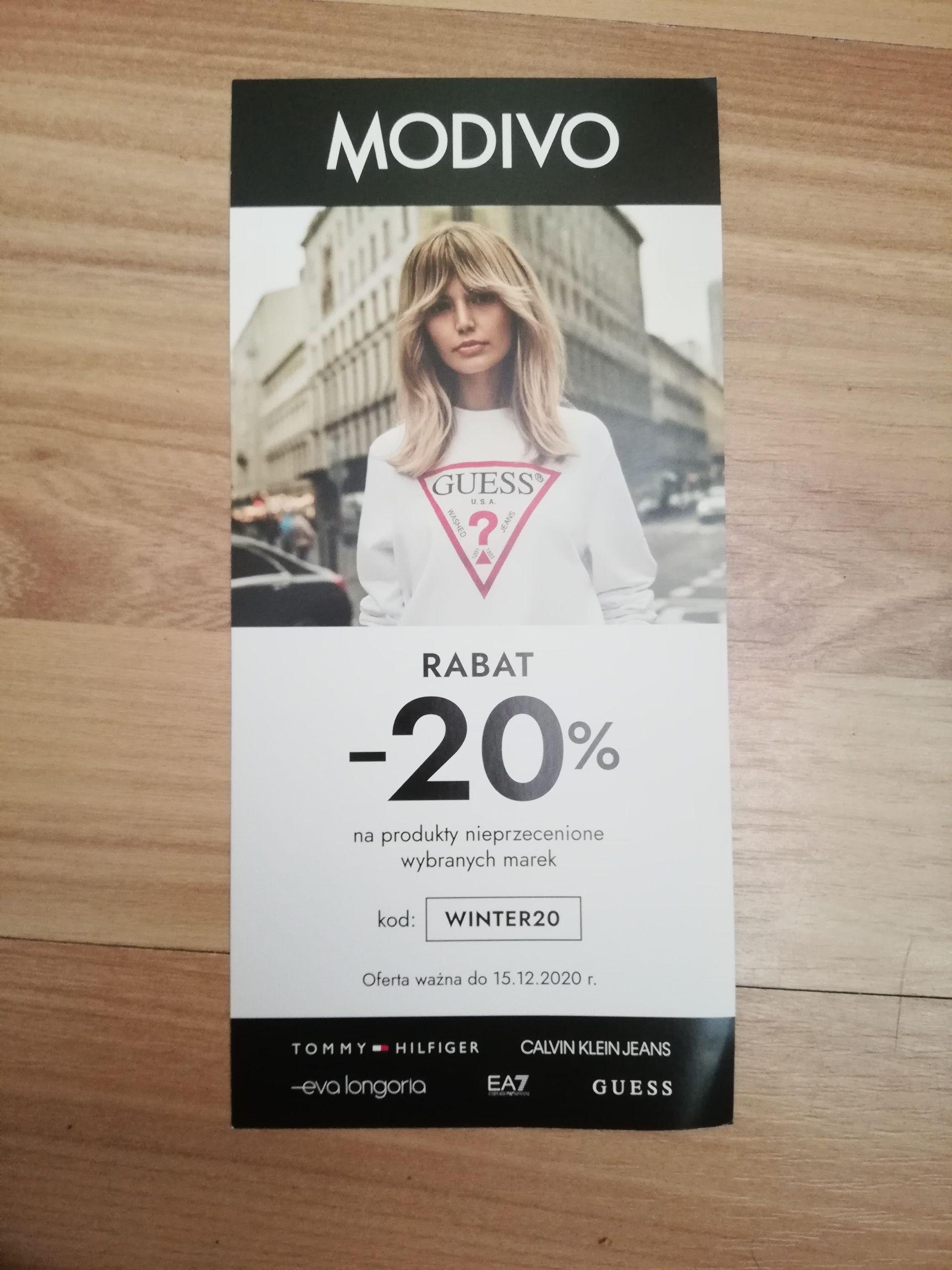 20% zniżki na Modivo.pl