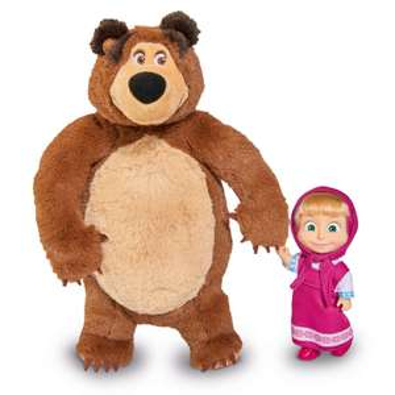 Simba, Masza i Niedźwiedź, lalka Masza i pluszowy Niedźwiedź Misza