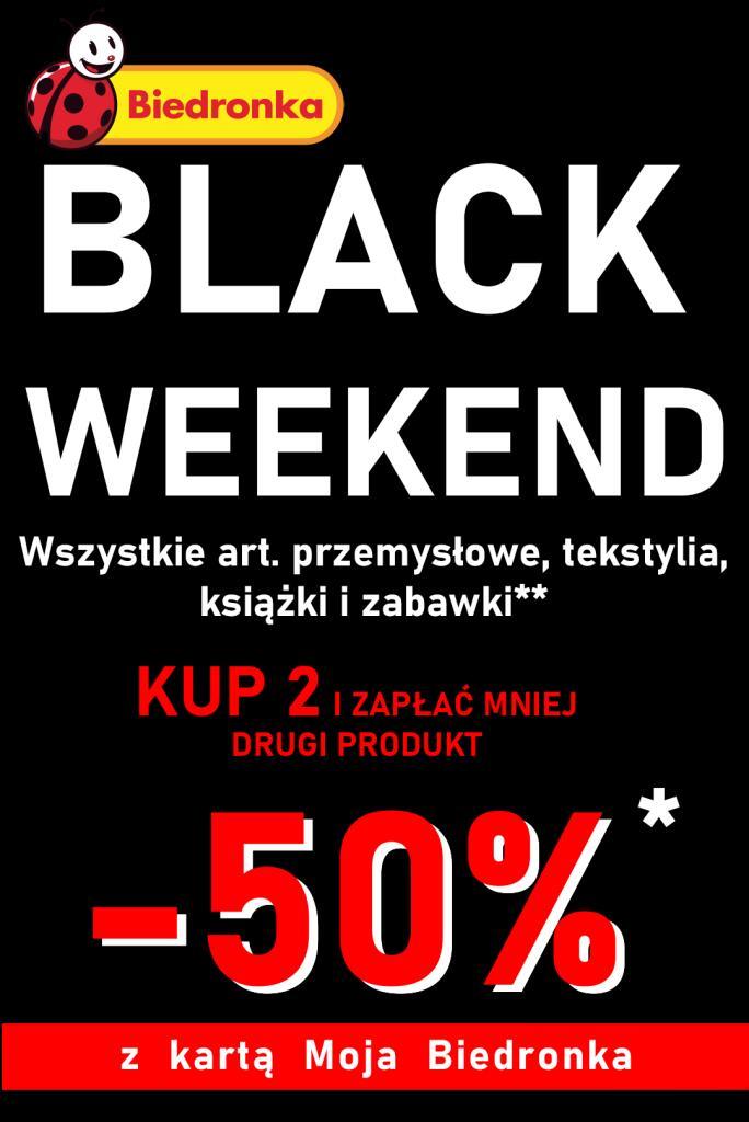 Kup 2 art przemysłowe a drugi otrzymasz 50% taniej BLACK WEEKEND - Biedronka