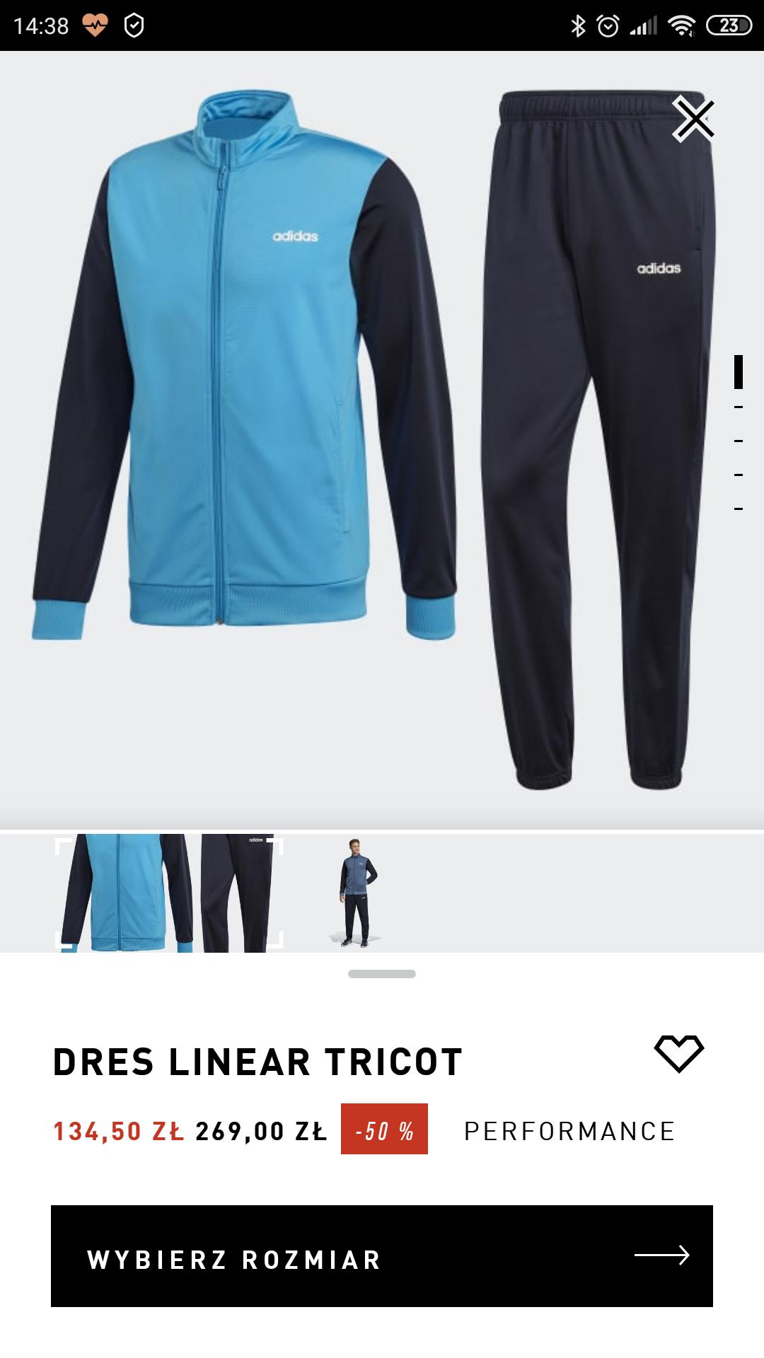 Komplet dresów Adidas TYLKO PRZEZ APKE