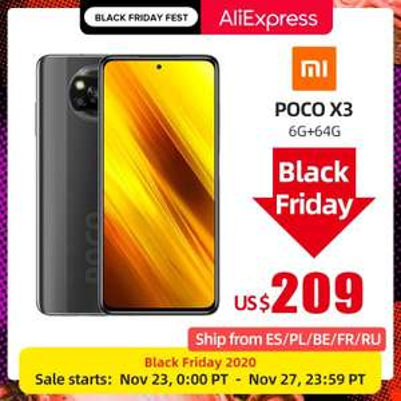 Poco X3 na Black Friday