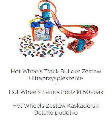 Promocja na duże zestawy Hot Wheels + małe z rabatem 30% / 3 zestawy