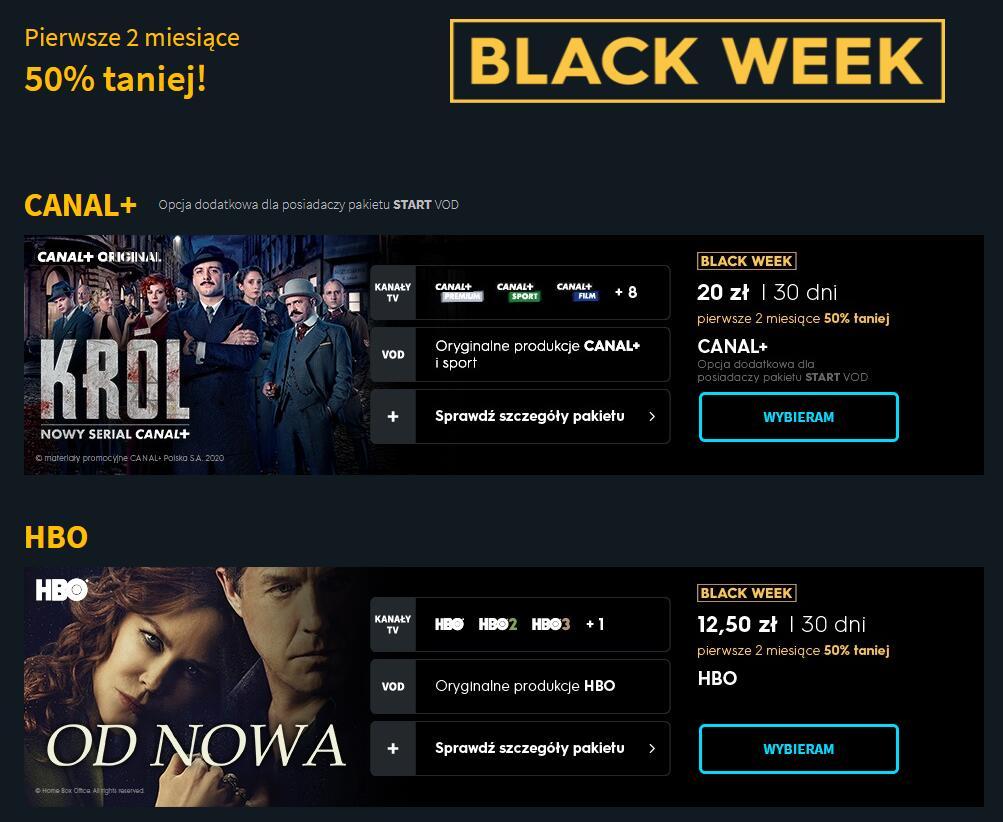 Player - pakiet HBO + CANAL+ za 30 zł lub ELEVEN + CANAL+ za 30 zł - pierwsze 2 miesiące