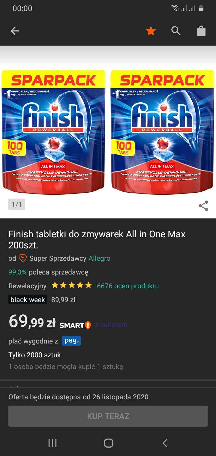 Zestaw 2x 100 FINISH Tabletki All in One Max Niemieckie