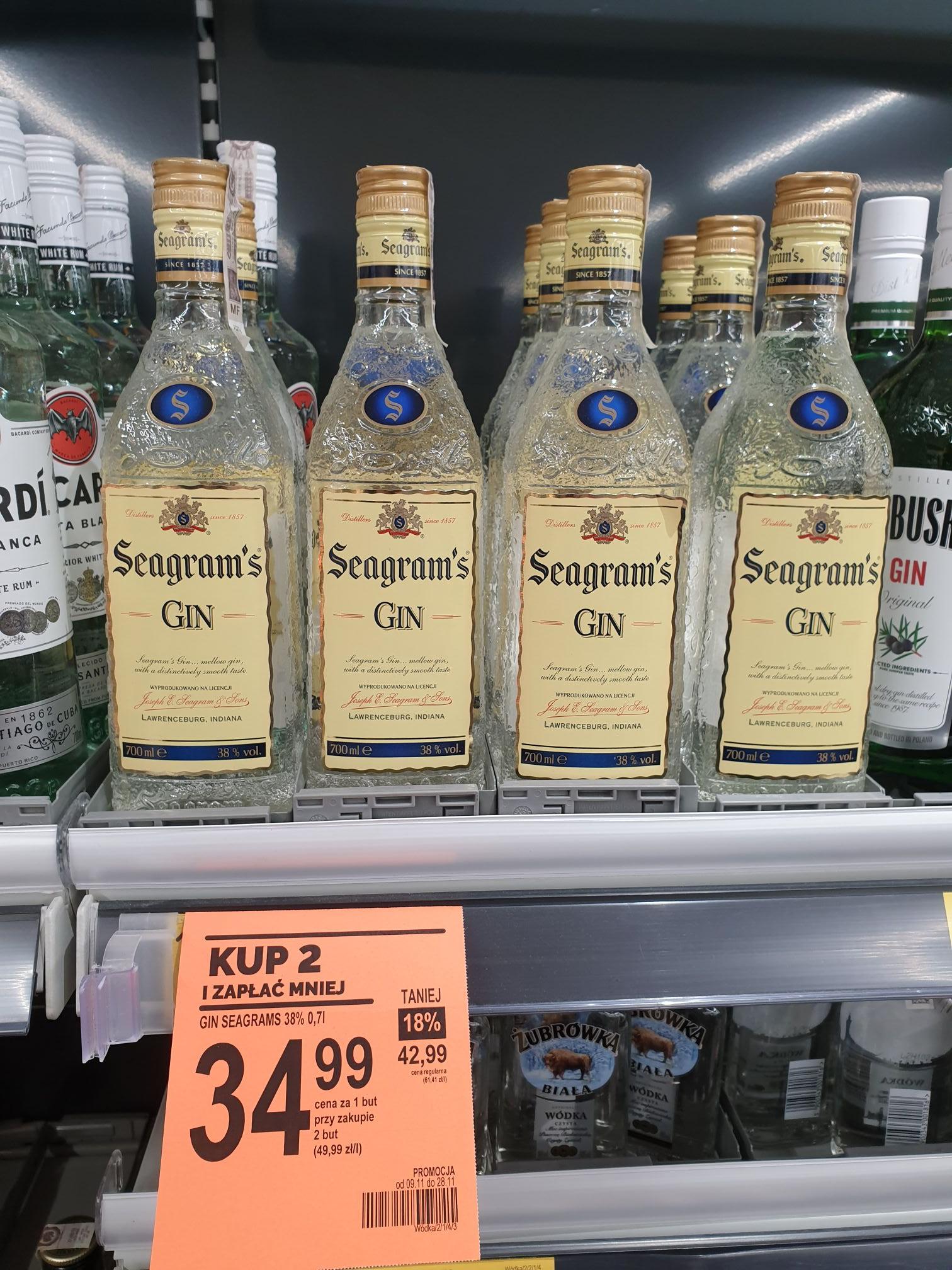 Seagram'S Gin 700Ml Biedronka przy zakupie 2szt.