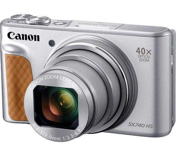 Aparat cyfrowy Canon PowerShot SX740 HS (Stabilizacja, Zoom optyczny 40x, CMOS 20,3MP, filmy 4K) @ Euro
