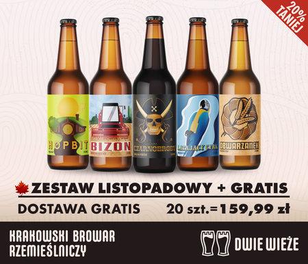 Zestaw 20 piw rzemieślniczych z darmową dostawą (Browar Dwie Wieże)