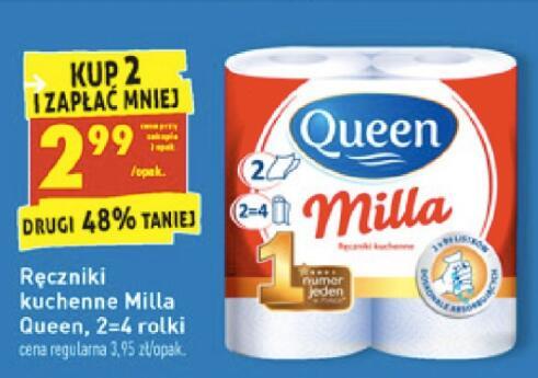 Ręczniki kuchenne milla Queen 2,99zł przy zakupie 2 opakowań - Biedronka