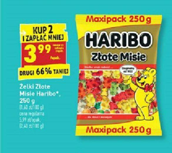 Żelki Haribo Złote Misie 250g - przy zakupie 2op. Biedronka