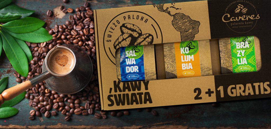 Zestaw kaw 2+1, w kartonie prezentowym