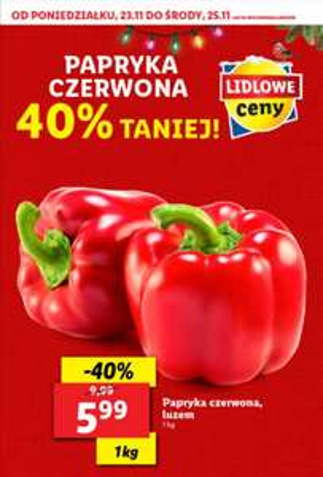 Papryka czerwona cena za kg-lidl