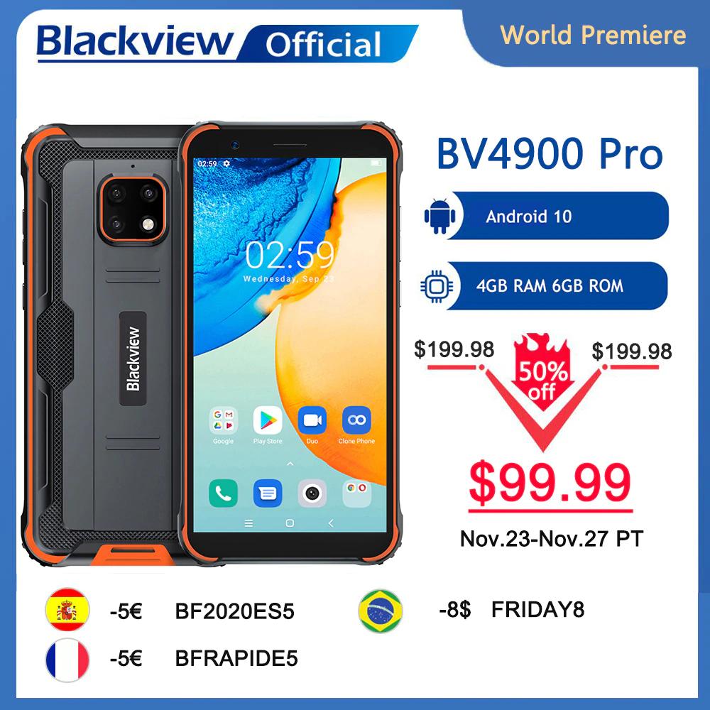 Tani pancerny smartphone Blackview BV4900 Pro 4/64GB Android 10 IP68 Waterproof 5580mAh 5.7 inch NFC - 99.99$