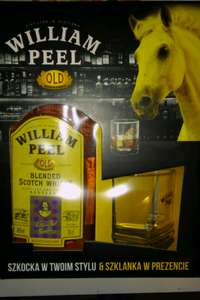 Whisky William Peel  0,7 + szklanka za 39,99 zł (Carrefour)