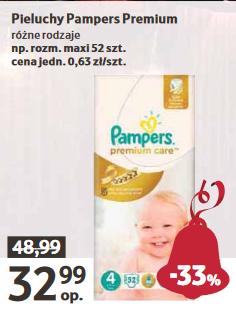 Pieluszki Pampers Premium Care za 32,99zł @ Tesco