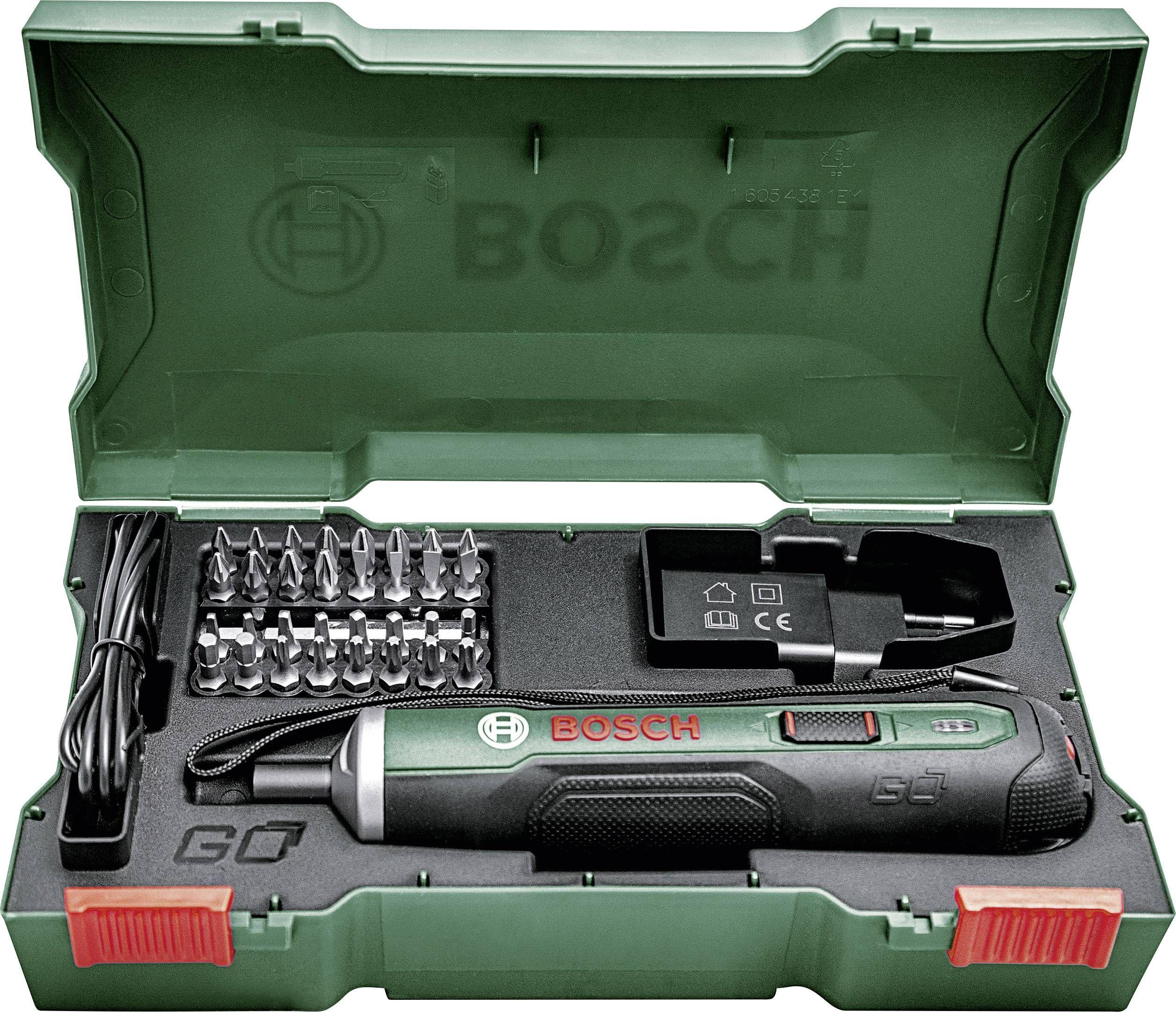 Wkrętak akumulatorowy Bosch PushDrive Set + 32 bity