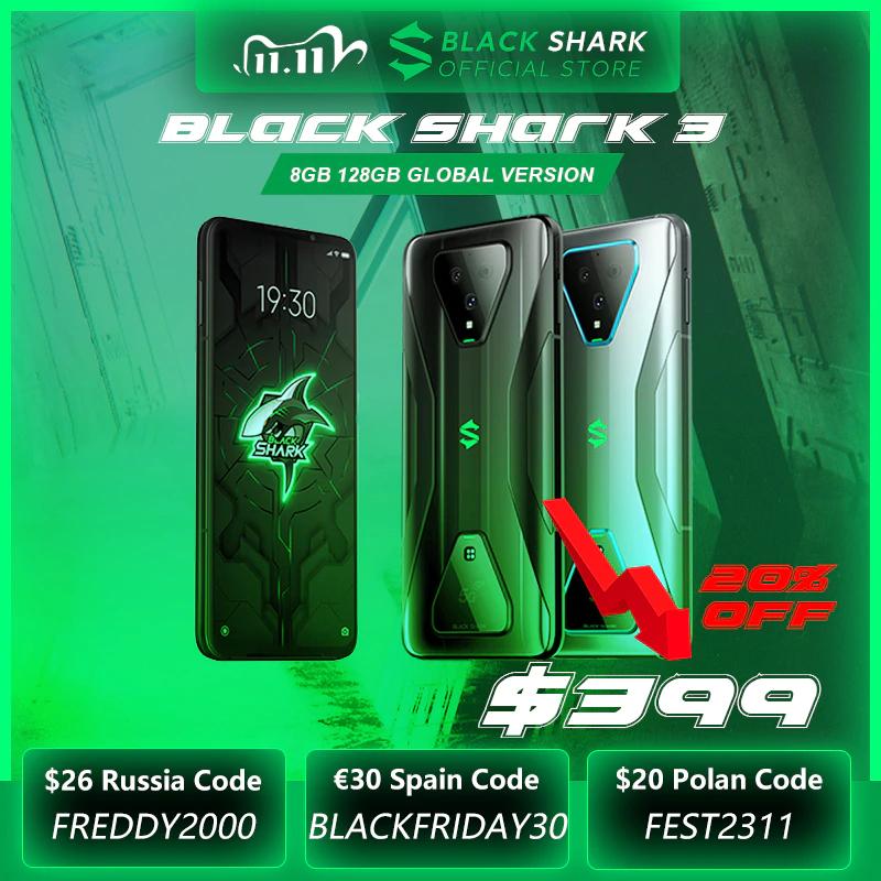 XIAOMI BLACK SHARK 3 8/128 GB (419$ Gray/424$ Black)
