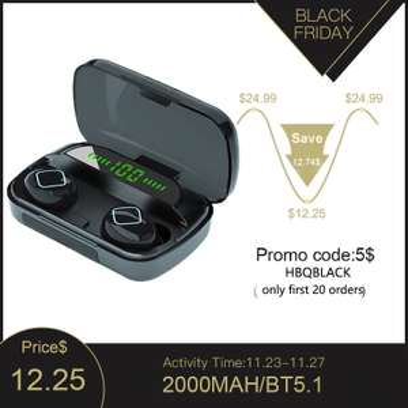 M10B TWS bezprzewodowe słuchawki Bluetooth 5.1 $6.25