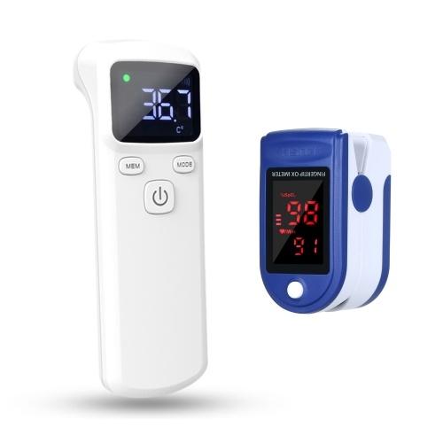 Termometr bezdotykowy + pulsoksymetr €11.04